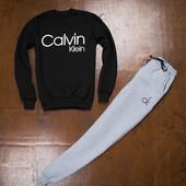 Спортивные штаны серые с логотипом Кельвин Кляйн