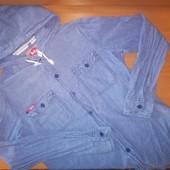 Подростковая рубашка для мальчика. Размер 42-44