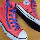 Кеды-ботинки Converse оригинал- размер-34,длина стельки-22.5 см