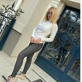 Стрейчевые лосины, имитация джинса...