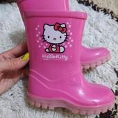 Резиновые сапоги сапожки Hello Kitty 24 размер на 13,5-14 см