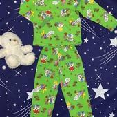 Детская хлопковая пижама. На рост 86-122 (1-7 лет). 4 цвета
