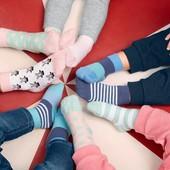 ☘ Лот 3 пари ☘ Для дівчинки-яскраві бавовняні шкарпетки від tcm Tchibo (Німеччина), розміри: 19/22