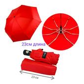 Лот 1 автомат зонт компактный маленький,на выбор 4 цвета-мятный, синий, черный, красный.