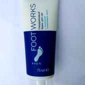"""AvonFoot Works Глицериновый крем для ног с технологией """"Силиконовые носки"""" 75 мл Много лотов!!"""