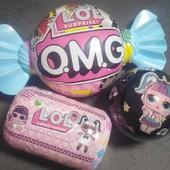 Супер-подарок! Набор LoL с волосами 3в1(лол в конфете+лол капсула+лол в шаре)