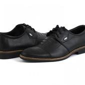 Натуральная кожа внутри и снаружи! Мужские туфли на стопу 26,5-27см