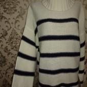 Теплый вязаный свитер под горло р.18 в идеальном состоянии