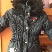 Куртка, холодная весна, внутри флис, размер 4 года 104 см, Hello Kitty. сост. отличное