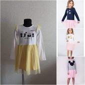 Платье для девочки с фатиновой юбкой.