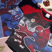 Лот 2 футболки с супергероями 6-7лет смотрите замеры состояние отличное