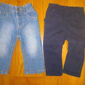 2 пары джинсов р.74-80 в отличном состоянии