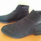 Замшевые демисезонные ботинки, размер 39