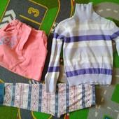 Гольфик, юбочка и пижамные штанишки на 3-4 года