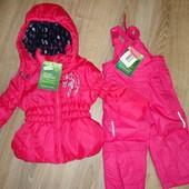 Демисезонный новый костюм(куртка и полукомбинезон) Lupilu на рост 74-86 см