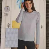 Шикарная котоновпя стрейч блуза Esmara L evro 44+6