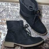 24 см. эко замш. Стильные ботинки на каждый день