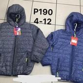 Демисезонная куртка на синтепоне для мальчиков XU 6рр синя