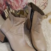 ❤️Fly London Португалия❤️Стильные модные ботинки р.39=26 см натуральная кожа снаружи и внутри