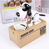 Веселая, игривая, робот собака копилка поедающая монетки!!! Много видео на YouTube!!!