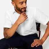❤️Marks&Spencer Бангладеш❤️фирменная рубашка приталенная короткий рукав легкая глажка крутая! 39\40