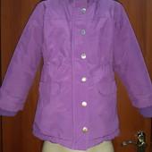 Куртка на девочку,на рост 110,фирмы Koup,внутри на флисе