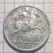 Монета Испании 10 центов 1945