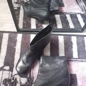 Крутые стильные ботильёны ботинки Clark's кожа