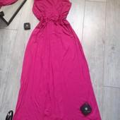 Класнючее малиновое платье с поясом