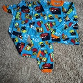Нова тепла байка на 7-9 лет штаны 76 см теплая пижама подросток на 122-128 рост