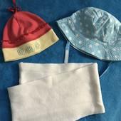 Панамка, шапочка та снуд з 6 місяців до 3 роки носили