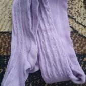 Колготки ажурные фиолетовые на девочку 2-3 г. Состояние отличное.