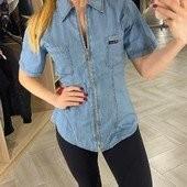 Джинсовая рубашка женская коттоновая Bеnson, турция