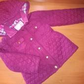 Tu Деми куртка для девочки с капюшоном на 4-5лет, на рост 104-110