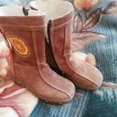 демисезонные кожаные сапожки для девочки