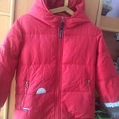Куртка, холодная весна, внутри 50%пух+50%перо, размер 3 года 100 см, United colors of Benetton. xop