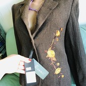 Новый шерстяной пиджак из бутика Стамбула,р.м-л,смотрите замеры