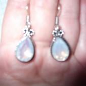 Новые!Лунный камень(опалит),стерлинговое серебро из Индии,ручная работа