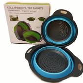 Друшлаг сито силиконовый складной Collapsible filter baskets ( набор 2 штуки)