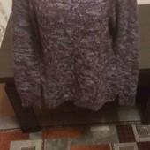 Вязаный тёплый свитер не колючий Бесплатнная доставка свыше 5 ставок укрпочта