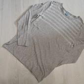Германия! Лёгкий мужской льняной свитер, реглан! Размер М 48/50