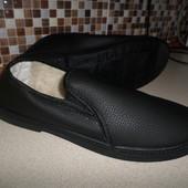 Мужские зимние туфли на меху.мокасины с мехом.