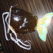 Сумка Золотая рыбка, паетка, голограма