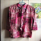 скидка на УП 10%!! к 8 марта!! шикарная красивая блуза 48/50/52 наш 42 евро