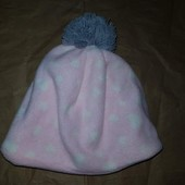 Розовая теплая флисовая шапочка Dopodopo 98-110р