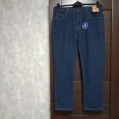 Фирменные новые красивые коттоновые мужские джинсы р.34-28 на пот-42-43 поб-52-53