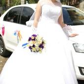 Платье свадебное перчатки фата подъюбник