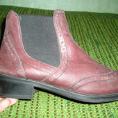 Демисезонные кожаные ботинки Bata р.37 по стельке 24 см