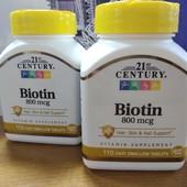 Biotin, комплекс для волос и ногтей, 110 шт. США