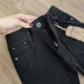 Распродажа! Весна!Деми брюки, чёрные, стрейч-коттон,для мальчиков,110,116 рост.